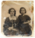 SIXTH PLATE AMBROTYPE OF MOTHER AND DAUGHTER