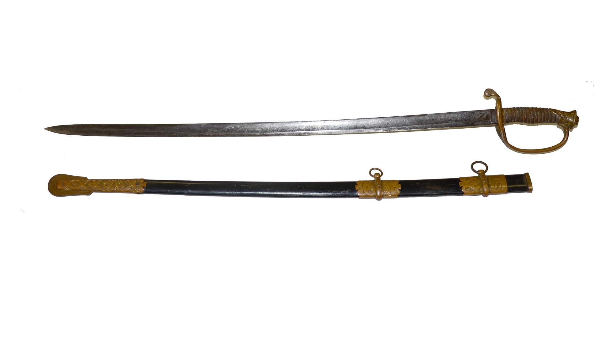 MODEL 1850 STAFF AND FIELD OFFICER'S SWORD ID'D TO 78TH NEW YORK ADJUTANT