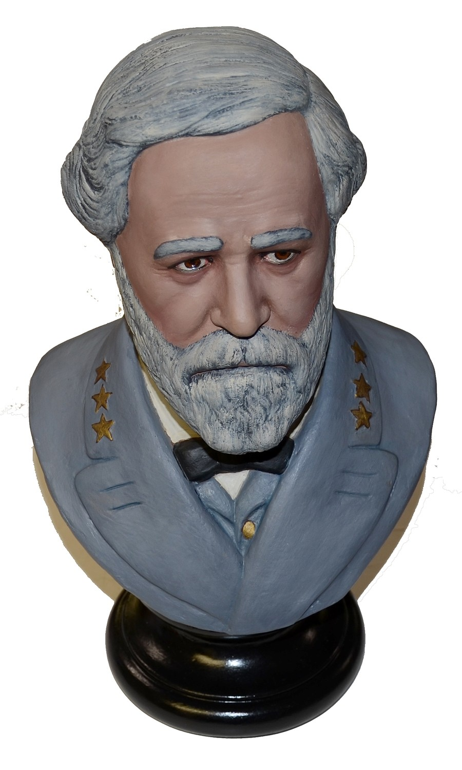 PORTRAIT BUST OF GENERAL R.E. LEE PAINTED BY A LOCAL ARTIST
