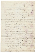 1862 LETTER WITH PRESENTATION OF SHOULDER STRAPS TO CAPT. SAMUEL B. SHERER OF JENKS' CO. OF INDEPENDENT ILLINOIS CAVALRY, FROM FELLOW CAVALRYMEN