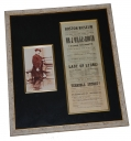 JOHN WILKES BOOTH - BOSTON MUSEUM PLAYBILL DATED MAY 22, 1862