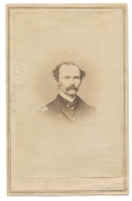 BUST VIEW CDV OF 2ND RHODE ISLAND CAVALRY CAPTAIN