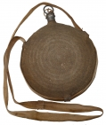 MODEL 1858 BULLSEYE CANTEEN WITH CORK, COVER, AND INDIAN WAR SLING