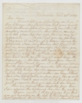 "FEBRUARY 1864 CIVIL WAR LETTER FROM LEBANON, PA RESIDENT JACOB FORNEY KREPS TO SOLDIER SON SERVING IN CO. ""F"", 15TH PA CAVALRY"