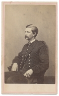 THREE-QUARTER SEATED VIEW OF CIVIL WAR NAVY OFFICER