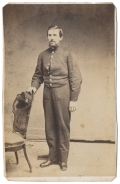 RARE FULL STANDING VIEW OF A UNION SIGNALMAN