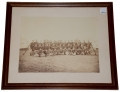 FRAMED PHOTO OF AN INDIAN WAR PERIOD INFANTRY COMPANY