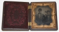 SIXTH PLATE AMBROTYPE OF DAVID A. BISSETT, VMI AND 13th VA CAVALRY, WOUNDED AND CAPTURED, LIEUTENANT IN 1864