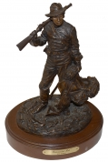 """DISMOUNTED REB"" BRONZE SCULPTURE BY RON TUNISON"