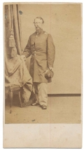 CDV FULL STANDING VIEW OF ADJUTANT DAVID H. BRADLEE OF THE 13TH MASSACHUSETTS INFANTRY