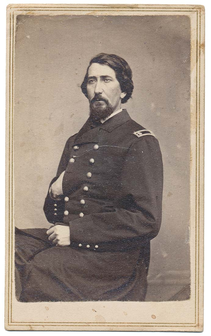 INK ID CDV OF NEW YORK SURGEON AUGUSTUS CAMPBELL WHO WAS A 49'ER & SERVED IN THREE REGIMENTS