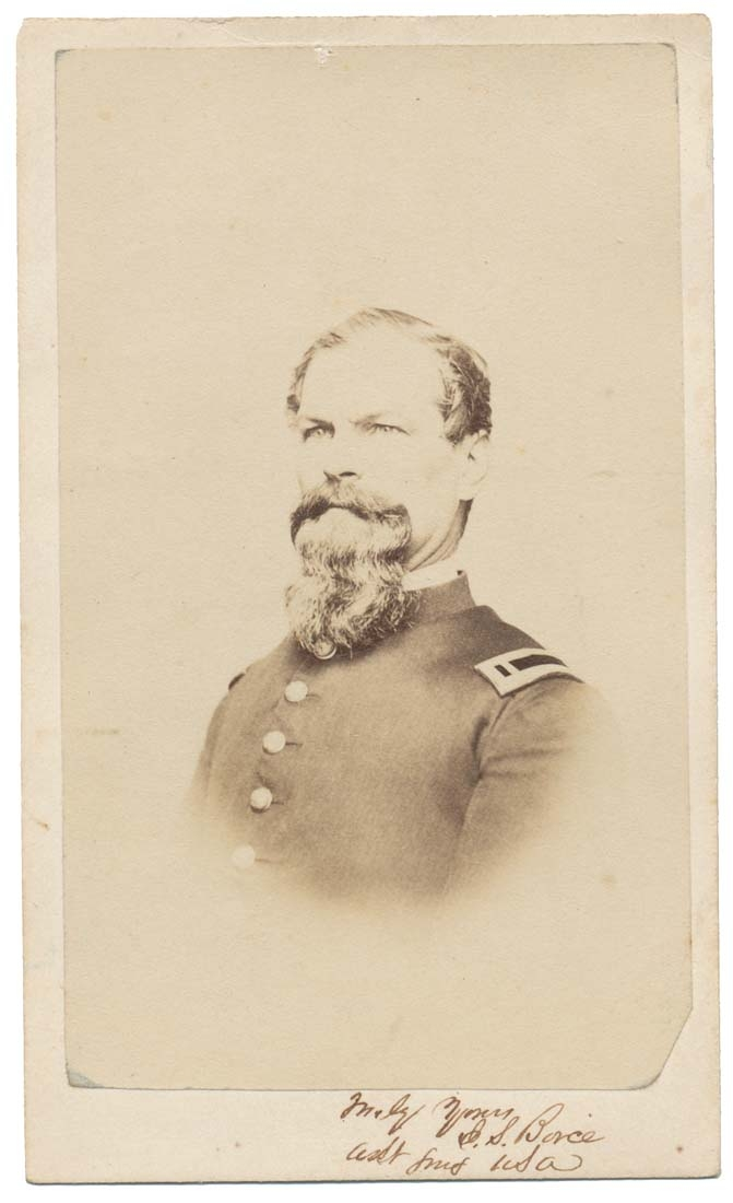SIGNED BUST VIEW CDV OF 103RD US COLORED TROOPS ASSISTANT SURGEON