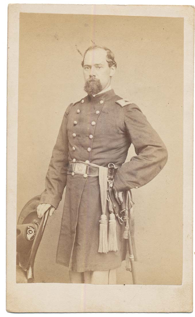 THREE-QUARTER STANDING VIEW OF 6TH MASSACHUSETTS OFFICER LT. COL. MELVIN BEAL WITH INK ID
