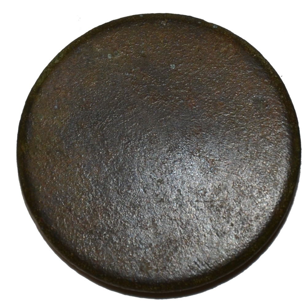 "US/CS FLAT ""COIN"" BUTTON RECOVERED AT THE SHERFY FARM, GETTYSBURG"
