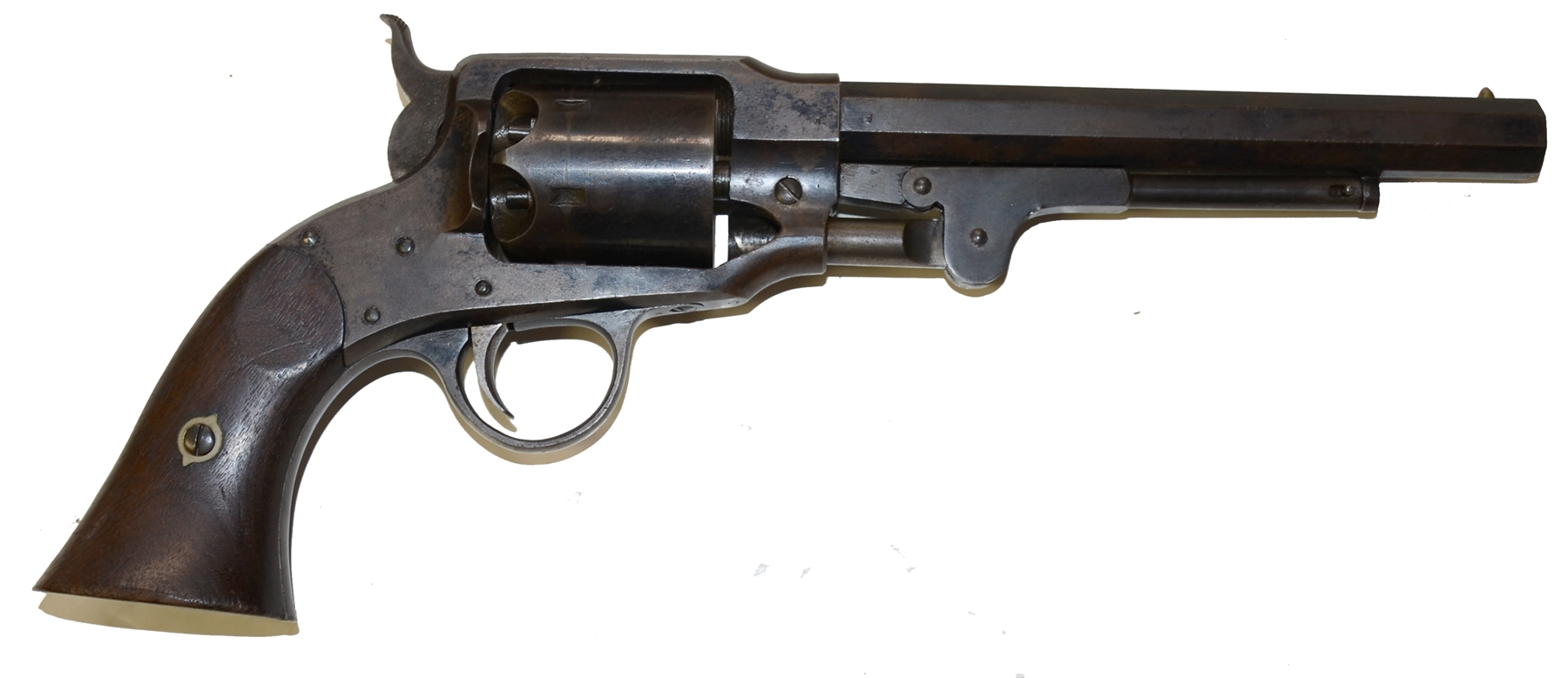 MARTIALLY MARKED ROGERS & SPENCER REVOLVER