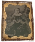 HALF PLATE TINTYPE OF A LITTLE BOY
