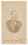 LATE 1860'S CDV OF 14TH VIRGINIA CAPTAIN BENJAMIN H. SHACKELFORD WOUNDED AT BLACKBURN'S FORD