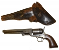 MARTIALLY MARKED MODEL 1851 COLT NAVY (THIRD MODEL) WITH HOLSTER
