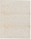 ALS - 2ND LIEUTENANT THOMAS J. JACKSON MEXICAN WAR LETTER, WITH NOTATION & SIGNATURE OF GEN. GIDEON PILLOW