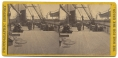 STEREO CARD VIEW OF THE QUARTERDECK OF THE USS PAWNEE