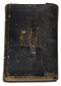 "IDENTIFIED CIVIL WAR SOLDIER'S BIBLE, SERGT. CHARLES McKNIGHT, 13TH VERMONT, ""HE WAS COOL, BRAVE, AND ACTIVE."" - DIED OF DISEASE IN 1863"