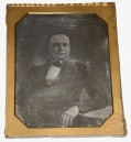 HALF-PLATE DAGUERREOTYPE OF OHIO CONGRESSMAN, BUSINESSMAN AND RAILROAD EXECUTIVE PETER W. STRADER