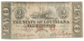 THE STATE OF LOUISIANA $2.00 NOTE FEBRUARY 24TH 1862