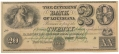 THE CITIZENS BANK OF LOUISIANA $20.00 NOTE