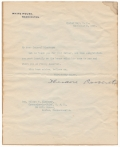 1904 THEODORE ROOSEVELT, TLS, WHITE HOUSE STATIONERY