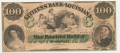THE CITIZENS BANK OF LOUISIANA $100.00 NOTE