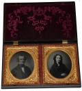 DOUBLE SIXTH-PLATE UNION CASE WITH TWO AMBROTYPE IMAGES