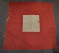 "CIVIL WAR ""NATIONAL FLAG DEPOT NEW YORK 1864"" MARKED ""FOUR-FOOT RED"" SIGNAL FLAG"