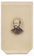 BUST VIEW CDV OF 11TH CORPS COMMISSARY OFFICER WITH INK ID – LT. COL. DAVID E. FOWLER