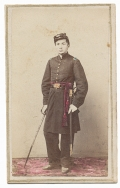 FULL STANDING TINTED VIEW OF A UNION OFFICER