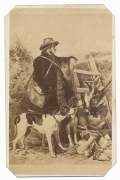 "CDV OF THE 19TH CENTURY PRINT ""THE ENGLISH GAMEKEEPER"""