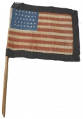 HAND HELD MOURNING FLAG FOR PRESIDENT LINCOLN