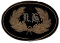 EXTREMELY SCARCE NEW HAMPHIRE OFFICER'S FALSE EMBROIDERED HAT INSIGNIA