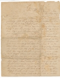 EMOTIONAL EARLY WAR LETTER BY 2nd ALABAMA SOLDIER LATER KILLED AT DALTON, GEORGIA WITH THE 38TH ALABAMA