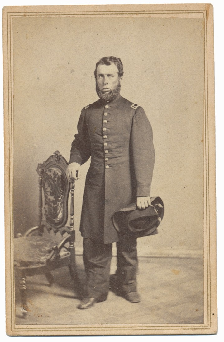 FULL STANDING VIEW OF 15TH NEW YORK ENGINEERS SURGEON THERON Z. GIBBS