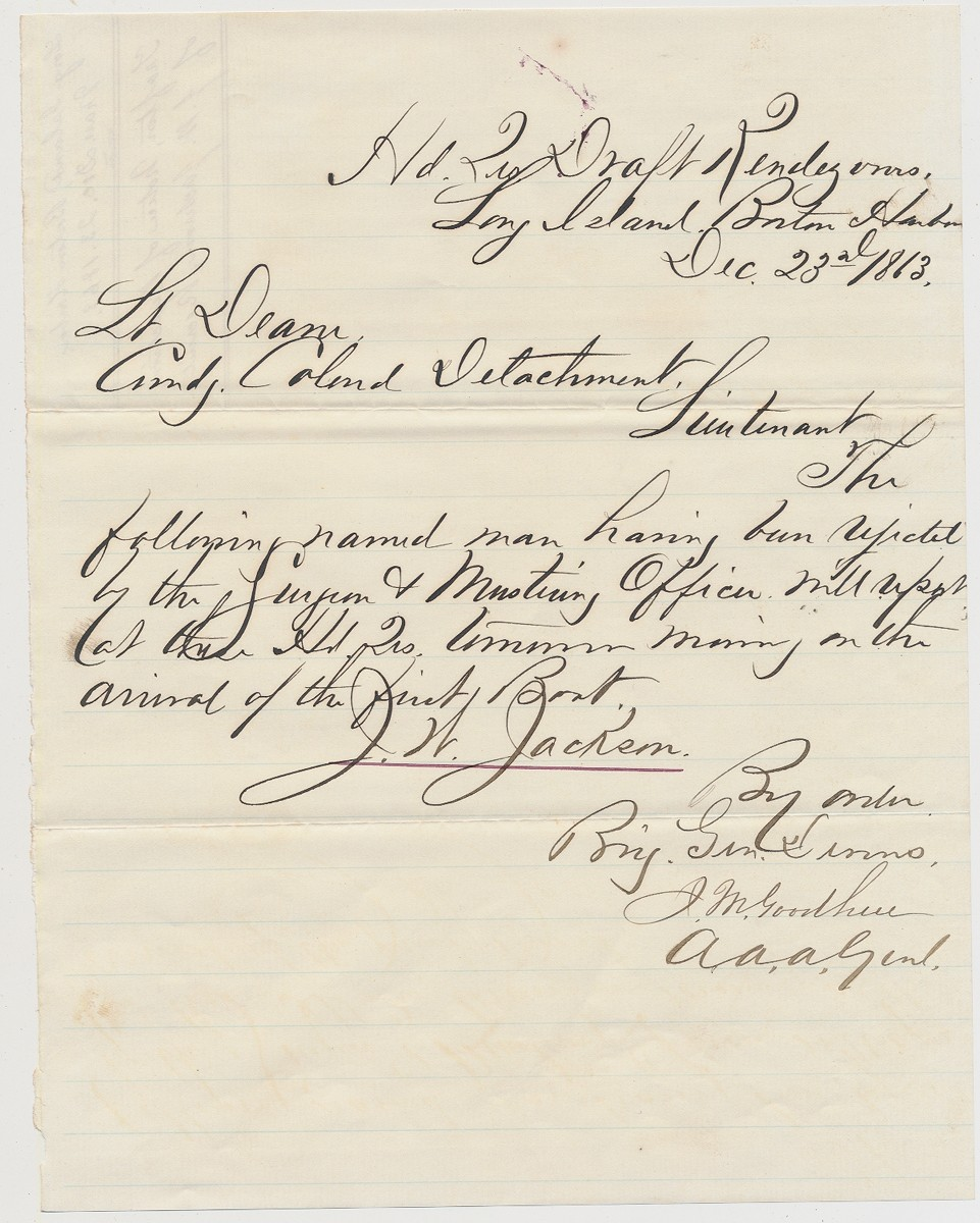 1863 54TH MASSACHUSETTS REGIMENTAL DOCUMENT