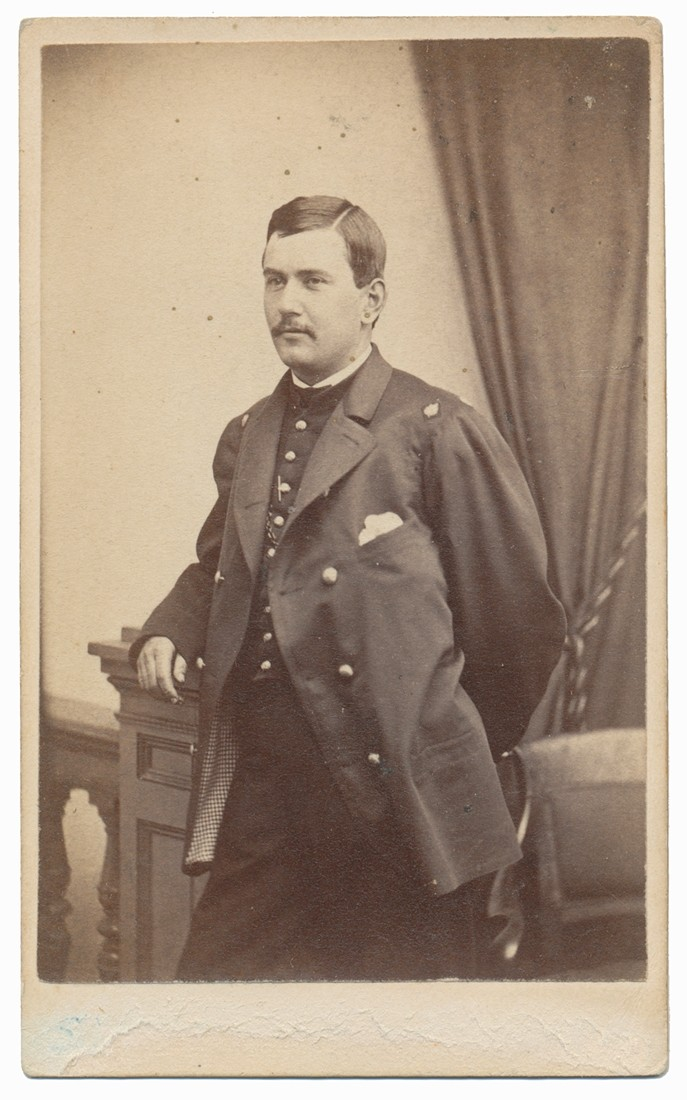 INK ID IMAGE OF 19TH MASSACHUSETTS SURGEON GUSTAVUS R. PRATT