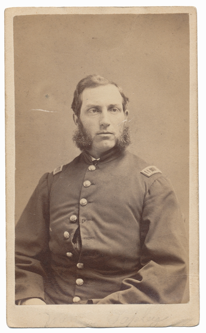 WAIST-UP VIEW OF 8TH MASSACHUSETTS SURGEON WARREN TAPLEY