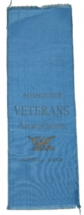 SOMERSET COUNTY MAINE VETERANS RIBBON, COL. DYER ESTATE 15th MAINE