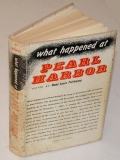 "BOOK FROM THE LIBRARY OF WORLD WAR TWO 1ST INFANTRY DIVISION COMMANDER GENERAL CLARENCE R. HUEBNER - 1958 COPY OF ""WHAT HAPPENED AT PEARL HARBOR"" BY HANS LOUIS TREFOUSSE"
