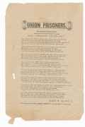 "SONGSHEET - ""UNION PRISONERS"""