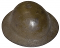 US WORLD WAR ONE MODEL 1917 HELMET SHELL WITH PAINTED 35TH DIVISION INSIGNIA