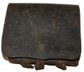 CONFEDERATE CARTRIDGE BOX FROM THE FIRST DAY'S FIELD AT GETTYSBURG, SHIELDS MUSEUM
