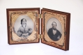 PAIR OF SIXTH-PLATE TINTYPES IN UNION CASE