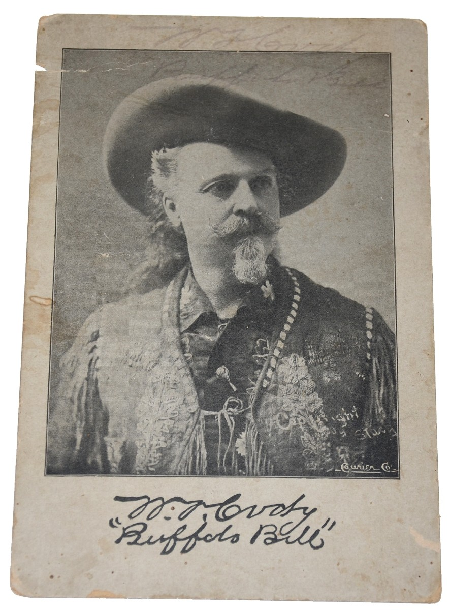 BUFFALO BILL CODY SIGNED PRINTED CABINET CARD