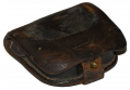 US EARLY CIVIL WAR LEATHER PERCUSSION CAP BOX